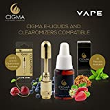 Cigma-Vape-Worlds-Slimmest-Smallest-Refillable-Rechargeable-E-Cigarette-Starter-Kit-E-Shisha-Rechargeable-battery-Refillable-Clearomizer-Vaporizer-Black-Money-Back-Guarantee