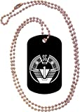 SG-1 Patch Logo Black Dog Tag with Neck Chain