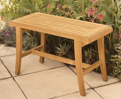 New Grade A Teak Wood Luxurious Outdoor Garden Bath Stool / Occasional Bench