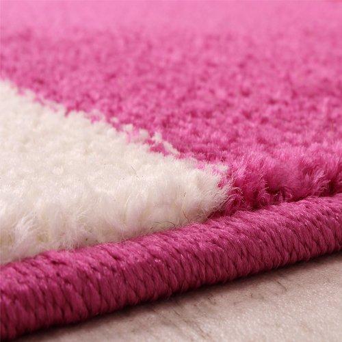 Tappeto Cameretta : Tappeto per bambini fiori disegni in rosa lilla bianco