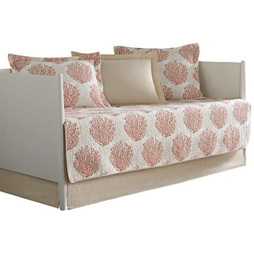 Laura Ashley 5-Piece Coral Coast Daybed Cover Set, Twin, Floral