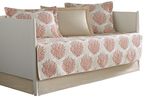 Laura Ashley 5 Piece Coral Coast Daybed Cover Set Twin