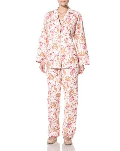 BedHead Women's Princess Kate Flannel Pajama Set  - Pink
