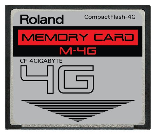 Review Of 4GB Roland M-4G CompactFlash CF Memory Card for V-Synth, Fantom X6, X7, X8, XR, Xa and mor...