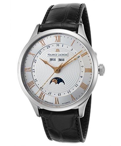 Maurice Lacroix obra maestra tradición Hombre Reloj Automático Moonphase mp6607-ss001-111