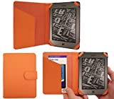 ITALKonline PadWear ORANGE Executive BOOK Wallet Case Cover Shield Slot for Amazon Kindle Touch (4G) Global Wireless 3G 6