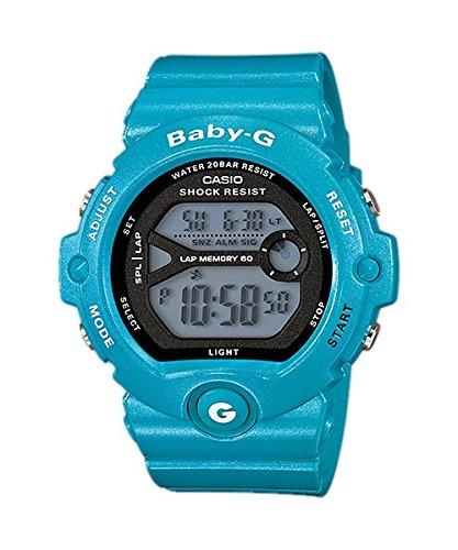 Casio  Baby-G - Reloj de cuarzo para mujer, con correa de resina, color gris