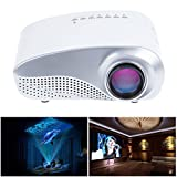 Sunsbell®LED Mini Projector Fashionable Home Theater Support 1080P for Video Games TV Movie TXT Music Pocket Size Projector