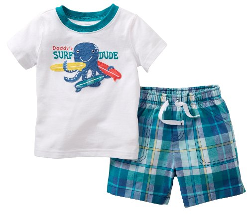 Carter'S Baby Boys' 2 Piece Shorts Set (Baby) -Octopus- 24 Months