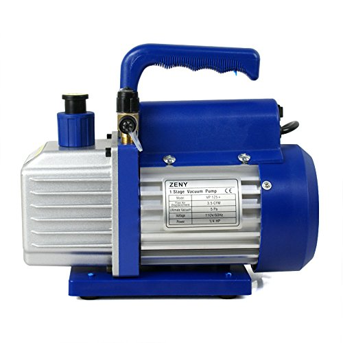 F2C 3,5 CFM 1/4HP Single-Stage Rotary Vane Vacuum Pump Air Conditioner Refrigeration HVAC Air Tool AC R410a Single Stage (3,5CFM) (Rotary Vane Vacuum Pump Oil compare prices)