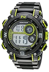 Armitron Men's 40/8284CGY Accented Digital Chronograph Resin Strap Watch