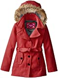 Dollhouse Big Girls  Belted Coat with Faux Fur Hood