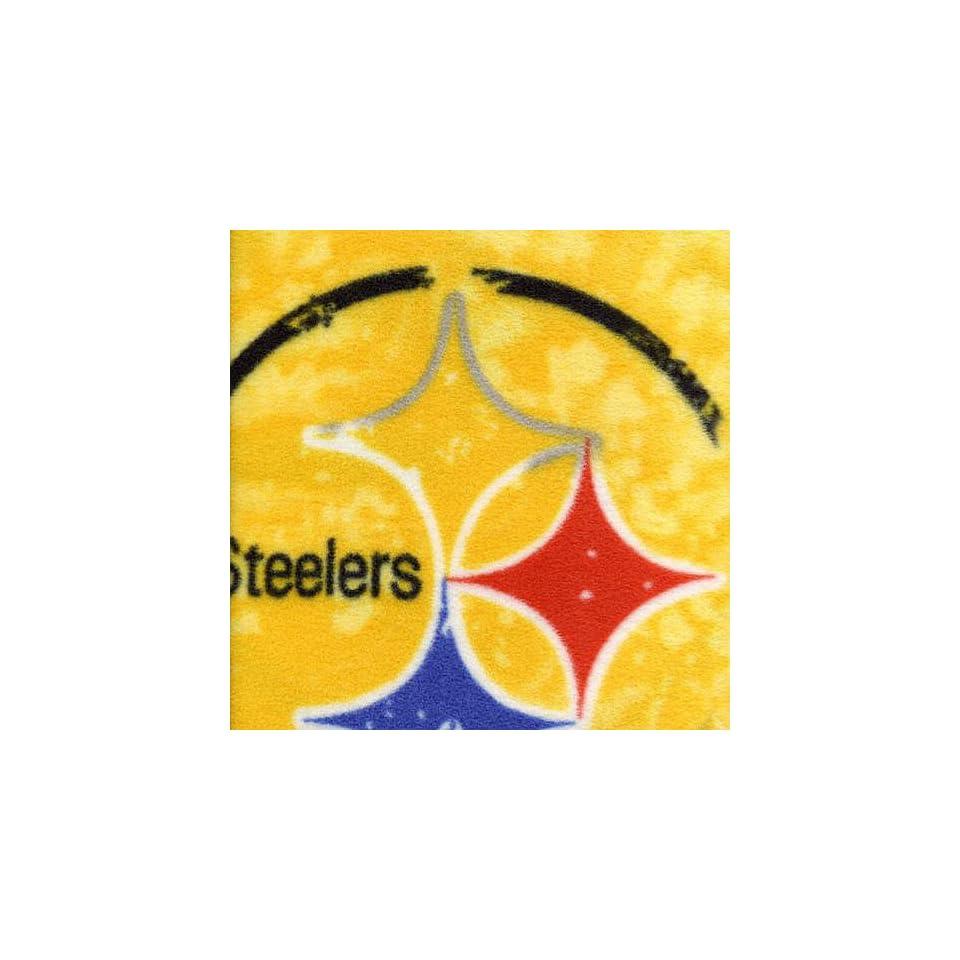 NFL Pittsburgh Steelers Polar Fleece Tie Dye Fabric  Sports Fan Throw Blankets  Sports & Outdoors
