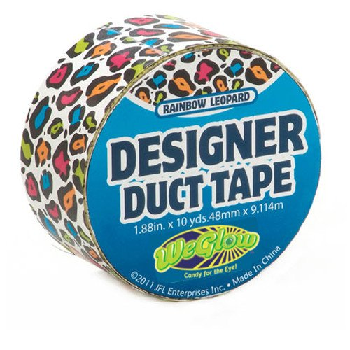 Just for Laughs Rainbow Leopard Designer Duct Tape (10-Yard)