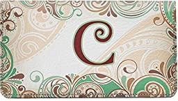 Funky Monogram C Leather Checkbook Cover