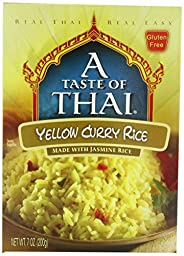 A Taste of Thai Yellow Curry Rice, 7 oz Box, 6 Piece