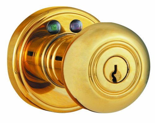 Morning Industry Rkk-01P Radio Frequency Remote Door Knob, Polished Brass