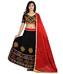 WCSE self design Navratri special embroidered Cotton lehenga choli