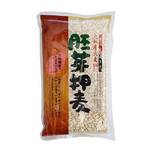 西田精麦 胚芽押麦(1kg) 九州産 大麦 ( 熊本 ・ 佐賀県産) 100%使用