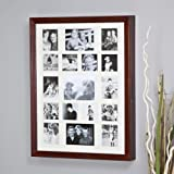Collage Photo Frame Wooden Wall Locking Jewelry Armoire - 23W x 30H x 3.5D in.
