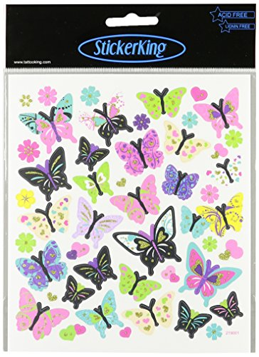 Multi-Colored Stickers-Butterflies In Glitter