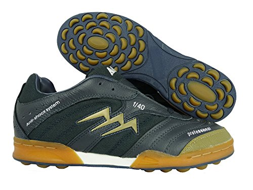AGLA PROFESSIONAL scarpe calcetto futsal art. F/40 outdoor navy/gold, Taglia: 39,5
