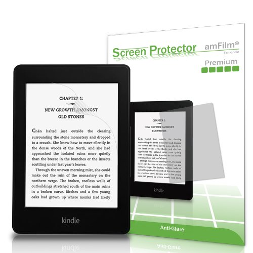 Kindle-Screen-Protector--amFilm--Kindle-Anti-Glare-Anti-Fingerprint--Matte--Premium-Screen-Protector-for-Kindle--Kindle-Paperwhite--Kindle-Paperwhite-3-and-Kindle-Touch--2-Pack---Lifetime-Warranty-