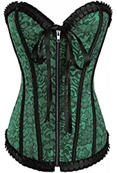 Alivila.Y Fashion Womens Waist Cincher Boned Brocade Corset