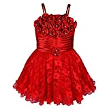 #9: Wish Karo Baby Girls Frock Dress (fr104rd-12-18 Mths_Red_12 - 18 Months)