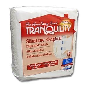 Tranquility SlimLine Disposable Briefs - Tranquility SlimLine Briefs X-Small 2166
