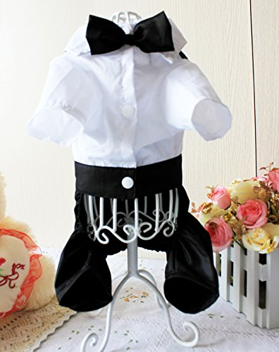 [Cotton Fabrics Yappily Ever After Dog Groom Tuxedo Dapper Dog Pet Costume (XXL)] (Dapper Dog Tuxedo Pet Costumes)