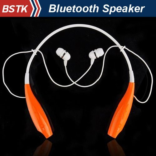 Jiake Wireless Bluetooth A2Dp Stereo Music Headset Universal Vibration Neckband Style Hbs-700 Earphone For Mobile Phones / Samsung Galaxy S4 S5 Note 2 3 / Lg G2 Pro / Htc One M7 M8 / Moto X G / Google Nexus 4 5 / Nokia Lumia 1520 1020 /Sony Xperia Z2 Z1 L