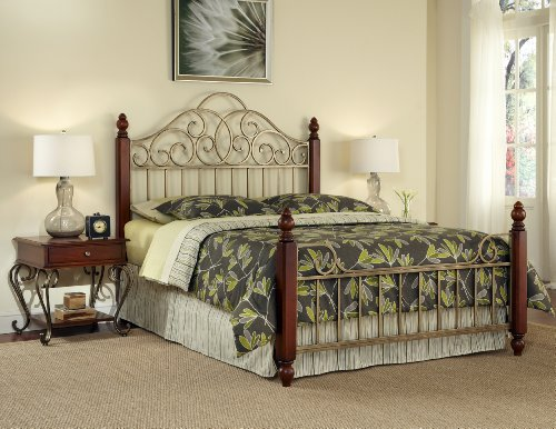 Cheap Home Styles St. Ives Queen Bed and 2 End Table (5051-5202)