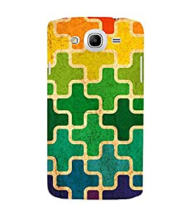 MULTICOLOURED CROSS PUZZLE PATTERN 3D Hard Polycarbonate Designer Back Case Cover for Samsung Galaxy Mega 5.8 i9150 :: Samsung Galaxy Mega 5.8 i9152