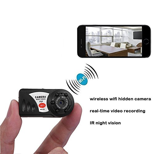 Mini Hidden Wireless P2P WiFi IP Portable Spy DV Camera with Motion Detection and Night Vision Support iPhone/Android Phone/ iPad /PC