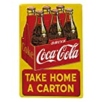 Drink Coca Cola Coke Take Home a Carton Tin Sign 12 x 17in