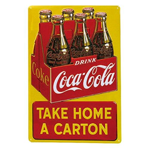 Drink Coca Cola Coke Take Home a Carton Tin Sign 12 x 17in 0