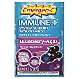 Alacer Emergen-C Immune Plus System Support with Vitamin D, Blueberry Acai, 30 Count