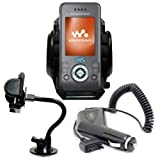 Xylo Car Kit: Windscreen Suction Mount Holder and In Car Charger for the Sony Ericsson W580i