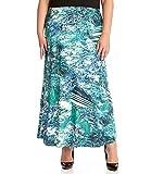 Karen Kane green Plus Size Multi Maxi Skirt, Size 0X