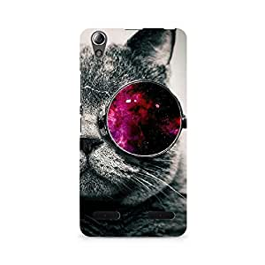 Ebby Classy Glassy Cat Premium Printed Case For Lenovo A6000