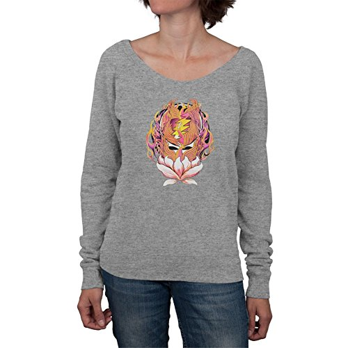 Grateful Dead - Womens Grateful Dead - Phoenix Rising Syf Grey Off-shoulder Juniors Sweatshirt (Dead Rising Merchandise compare prices)