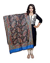 Indiweaves Fashion Women Black Viscose Shawl
