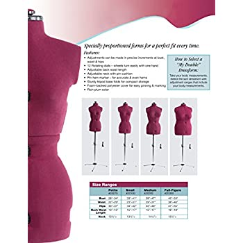 Dritz My Double Full Figure Dress Form, Large