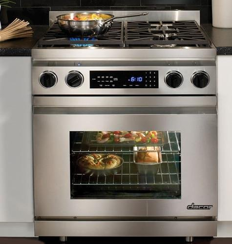 """Dacor Dr30Dhlp 30"""" Pro-Style Freestanding Liquid Propane Dual-Fuel Range With 4 Sealed/Simmer Burners, 3.9 Cu. Ft. Pure Convection Oven, Self-Clean, Hidden Electric Bake Element And Digital Temperature Probe front-510121"""
