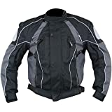 Xelement Armored Mens Gray/Black Textile Jacket - X-Large