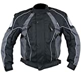 Xelement Armored Mens Gray/Black Textile Jacket - Small