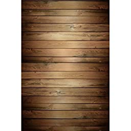 Photography Weathered Faux Wood Floor Drop Background Mat CF1422 Rubber Backing, 5\'x7\' High Quality Printing, Roll up for Easy Storage Photo Prop Carpet Mat
