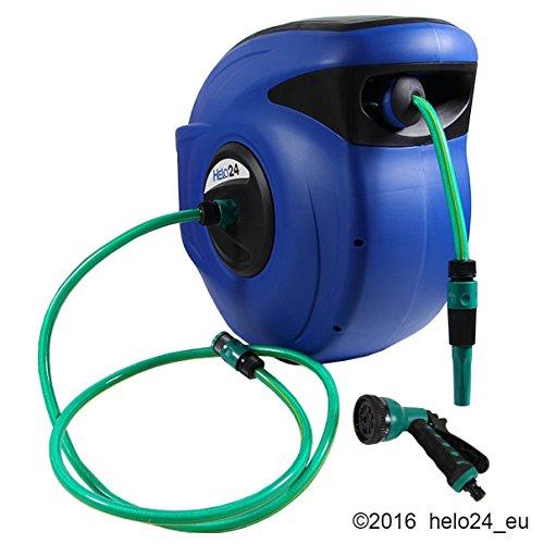 Gartenschlauch-30m-2m-Wasserschlauchtrommel-Automatik