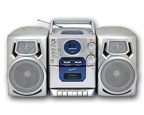 Supersonic Portable SC-803UM AM/FM Radio Tape Recorder MP3 CD Player (BLACK)